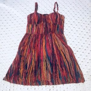 Multi-color summer mini dress by As U Wish sz M